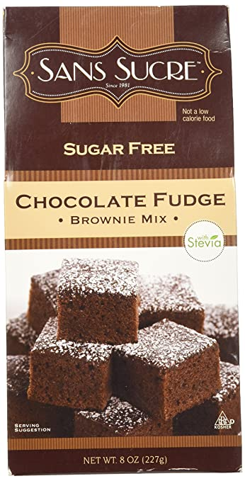 Sans Sucre Chocolate Fudge Brownie Mix Sweetened With Stevia