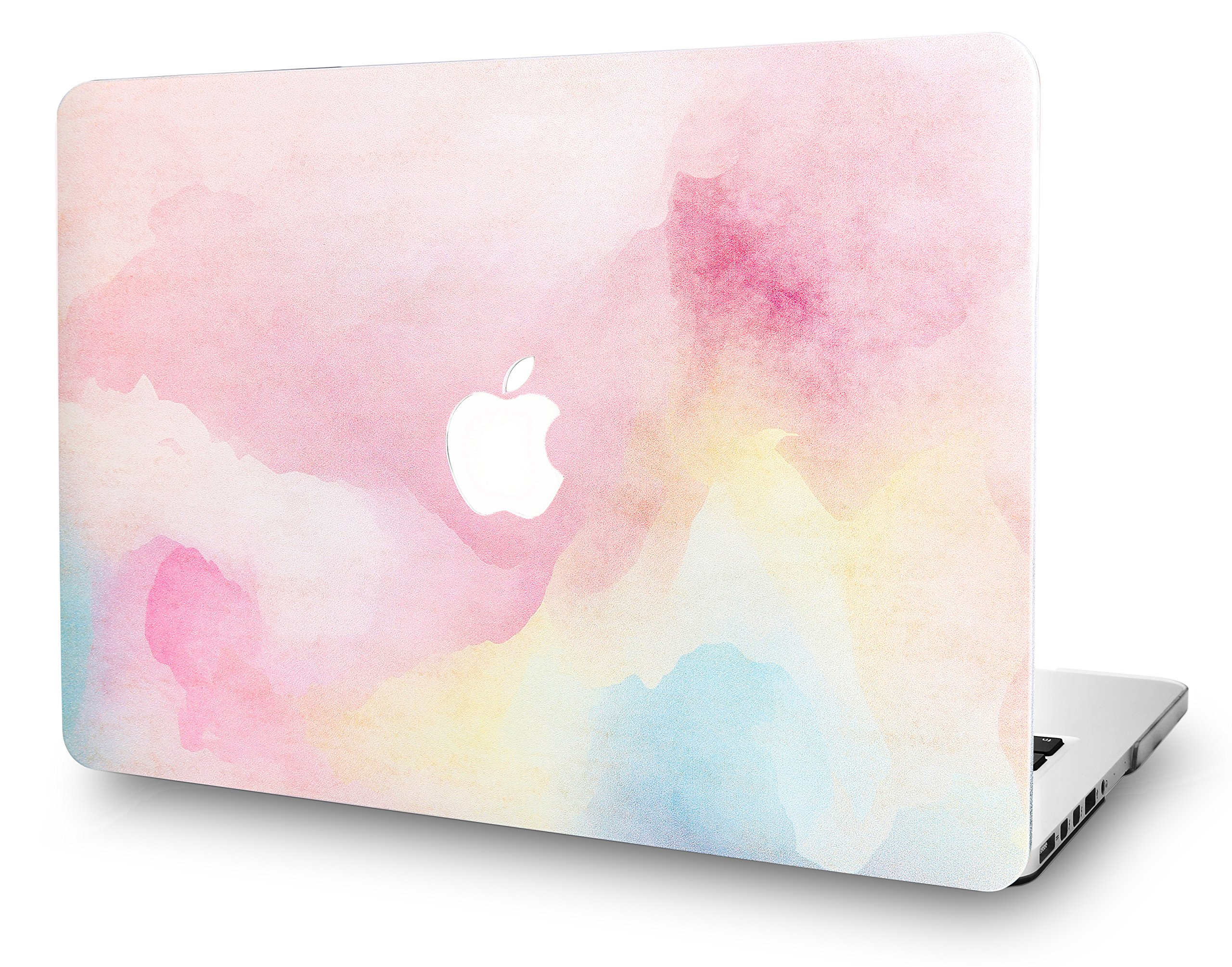 KEC Laptop Case for MacBook Pro 13'' (2018/2017/2016) Plastic Hard Shell Cover A1989/A1706/A1708 Touch Bar (Rainbow Mist)