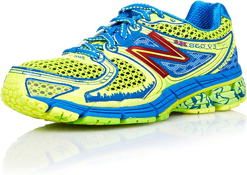 New Balance Zapatillas Running 860 Azul/Amarillo EU 37.5 (US 7): Amazon.es: Zapatos y complementos