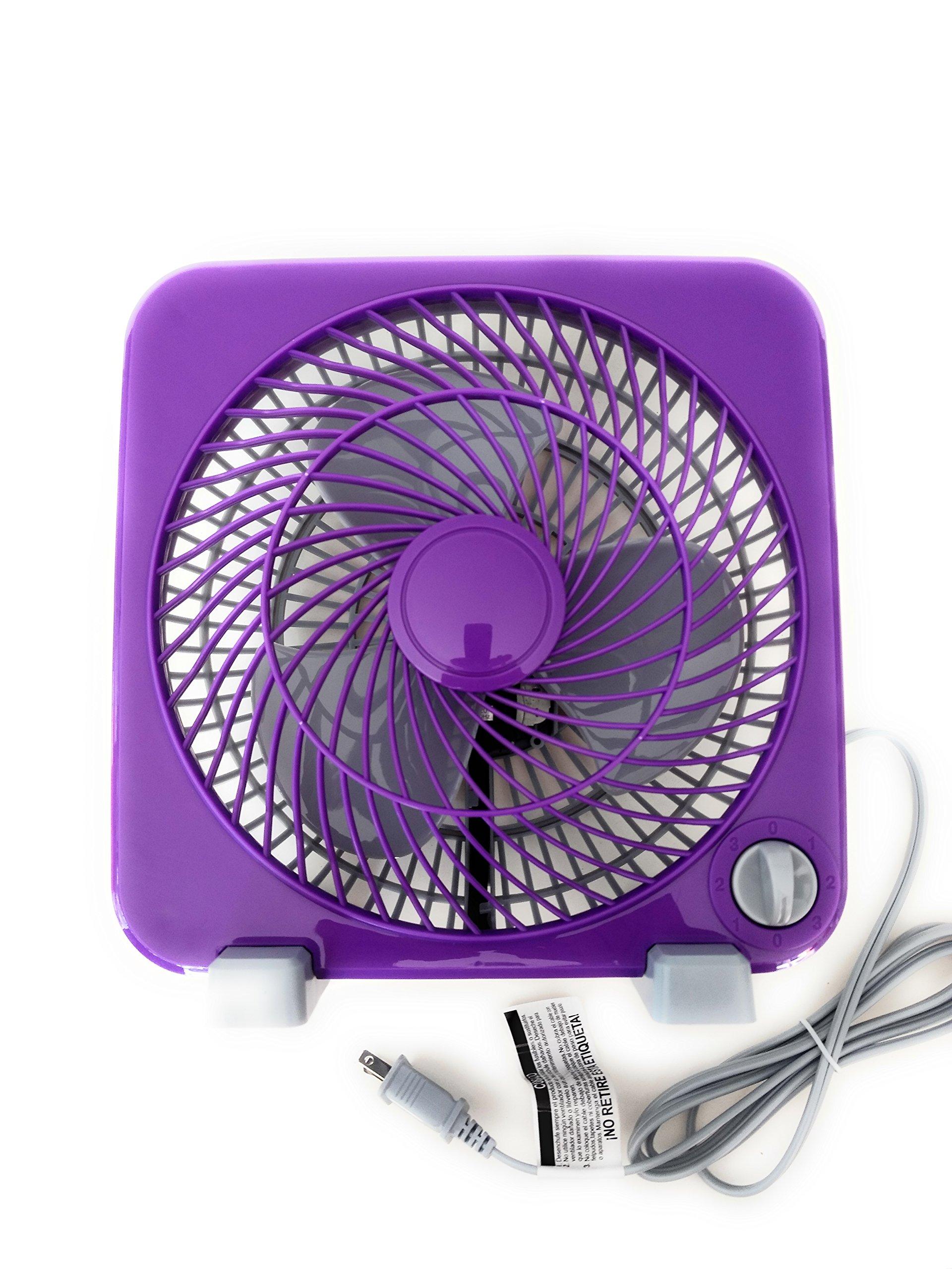 Mainstays 9-Inch Personal Fan Purple