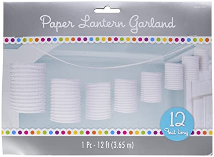 amazon com amscan accordion style paper lantern garlands frosty