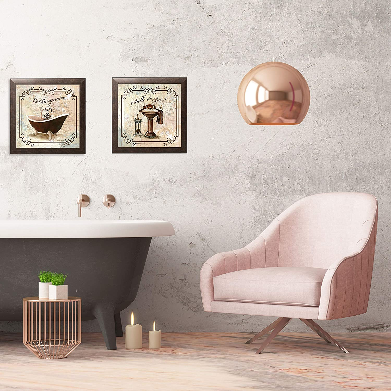 Baignoire salle de bains moderne TREBLE TOILE murale ART imprimé photo blanc