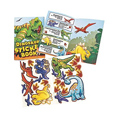 Fun Express - Dinosaur Sticker Books - Stationery - Activity Books - Activity Books - 12 Pieces: Toys & Games