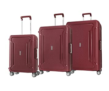 98d2d159601d American Tourister Tribus 3 Piece Hardside Spinner Luggage Set (Red)