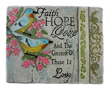 OFA Products Décoratifs Plaque Murale Wise Words Faith Hope Love - Plaque pour mur interieur