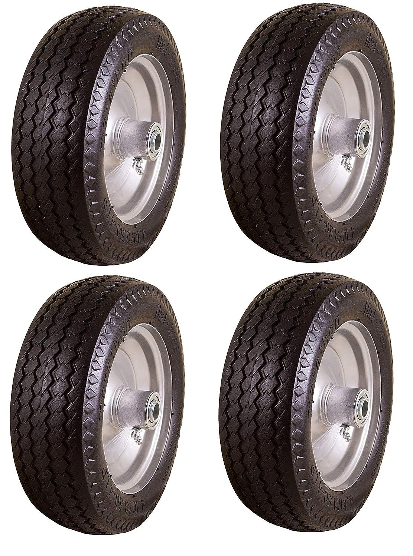 Amazon com marathon 4 10 3 50 4 flat free hand truck all purpose utility tire on wheel 2 25 offset hub 3 4 bearings carlisle garden outdoor