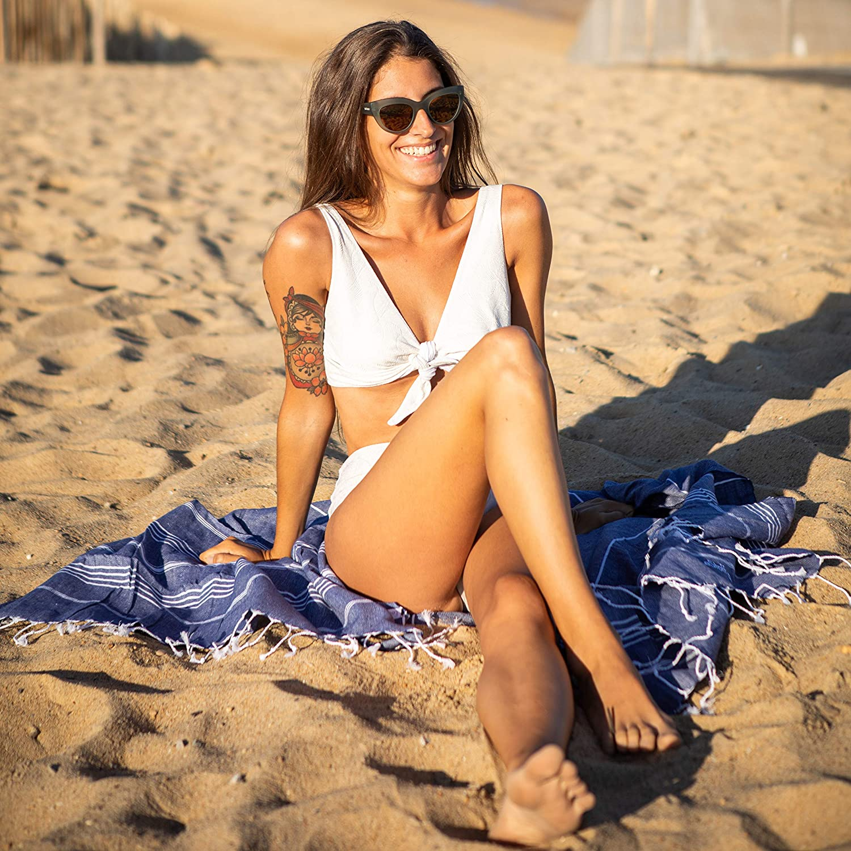Toalla para la Sauna Yoga Toalla de Playa Deporte SPA Toalla de ba/ño Viaje etc. LeStoff la Toalla Tradicional del hammam Turco