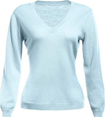 Woman Winter 100/% Cashmere Sweaters Knitted Pullovers High Quality Warm V-neck