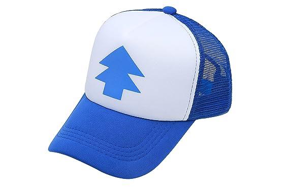 d8e58fa27fa66 Dipper Gravity Falls Cartoon New Curved Bill Blue Pine Tree Hat Cap Trucker   Amazon.co.uk  Clothing