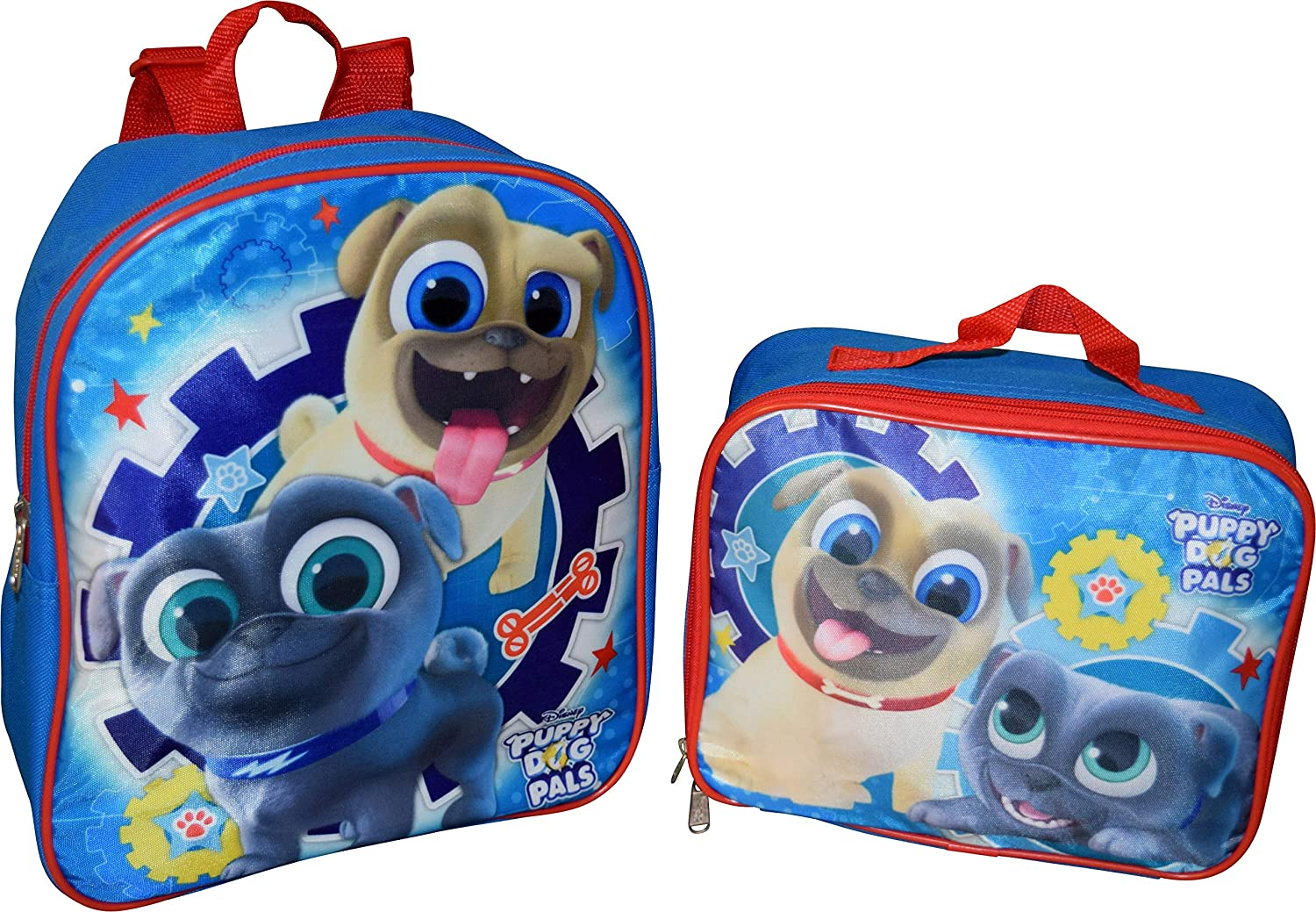Disney Junior Puppy Dog Pals 12 Backpack With Matching Lunch Box