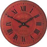 Smiths horloge murale en bois rouge cuisine for Horloge murale cuisine rouge