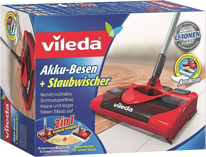 Vileda 123194 - Escoba sin Cables (Funciona con batería, Incluye ...