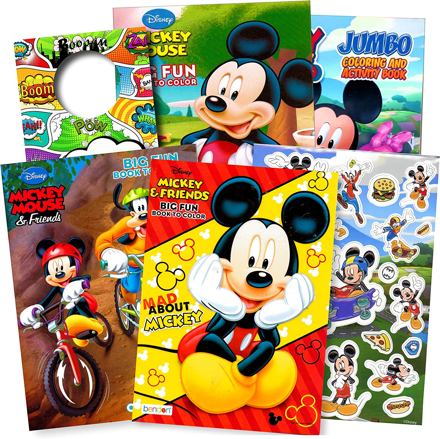 - Amazon.com: Bendon Publishing Mickey Mouse Coloring Books Stickers