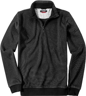Bugatti Herren Troyer Pullover Sweater Gestreift, Größe: M