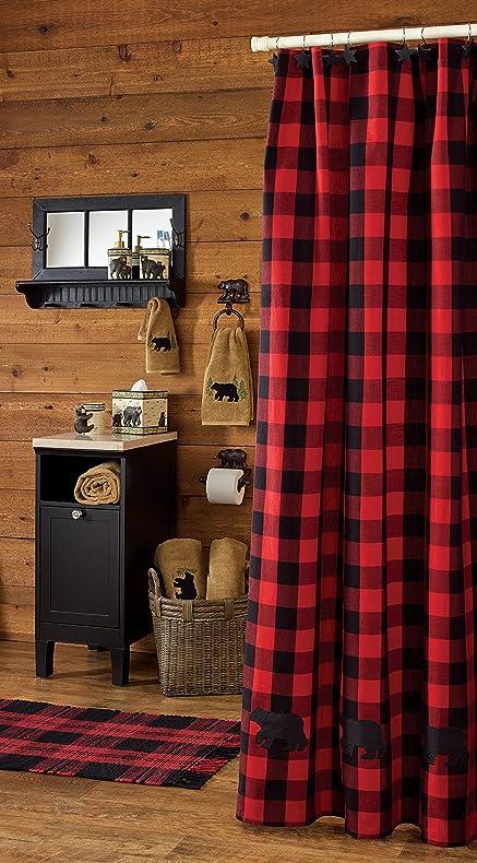 Amazon.com: Park Designs Buffalo Check Bear Applique Shower ...