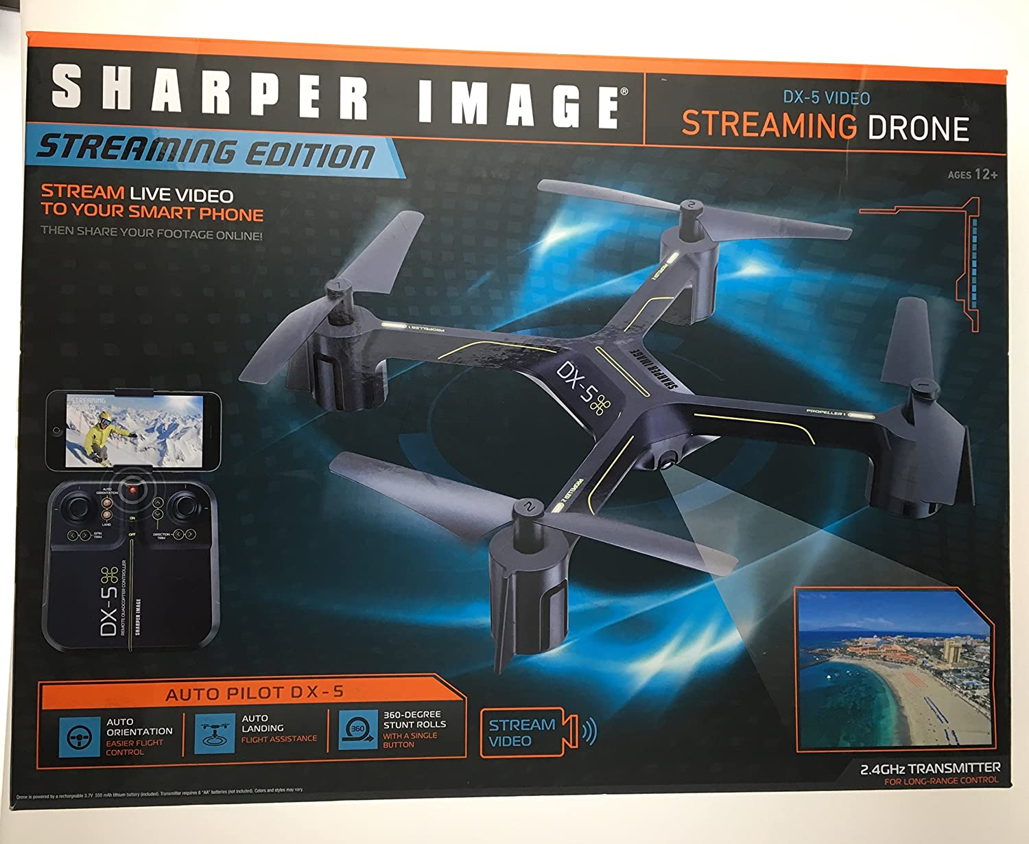 Amazoncom 2017 Sharper Image Dx 5 Video Streaming Stunt Drone With