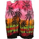 Hawaiian Shorts Fancy Dress Beach Stag Party Palm Tree