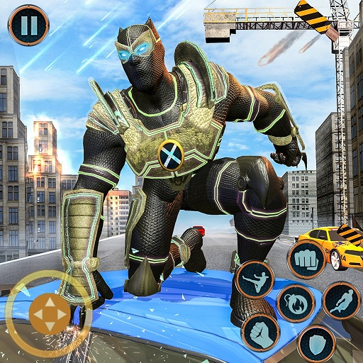 Super Hero Panther Robot Crime City Rescue -