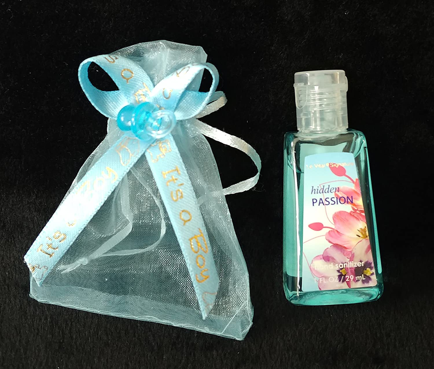Amazon.com: 12 Organzas It's a Boy Hand Sanitizer Baby Shower Party Favor:  Toys & Games
