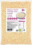 Organic Oats 3kg (or 6kg 9kg 15kg) Rolled Wholegrain Porridge Oatmeal Vegetarian Vegan Non GM Certified Bio No Added Sugar PINK SUN Bulk Buy