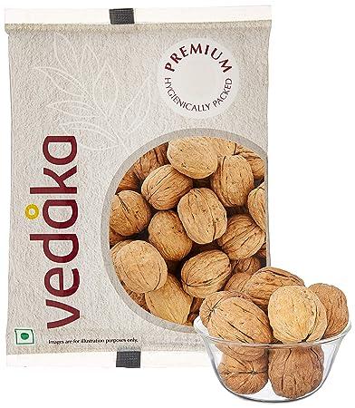Amazon Brand - Vedaka Premium Inshell Walnuts, 500g (Pack of 2)