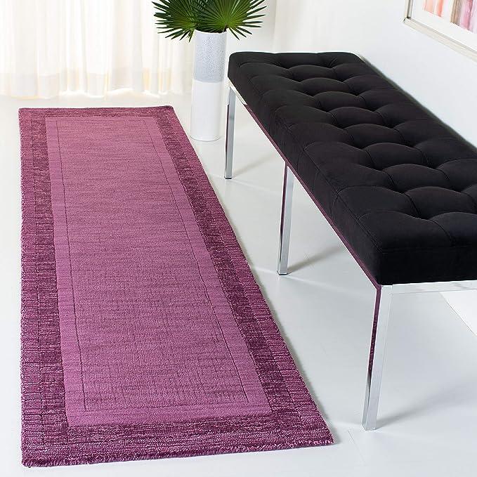 Amazon Com Safavieh Impressions Collection Im821a Handmade Premium Wool Runner 2 3 X 6 Fuchsia Purple Furniture Decor