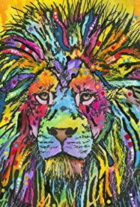 Toland Home Garden Neon Lion 28 x 40 Inch Colorful Pop Art Zoo Animal Decorative House Flag