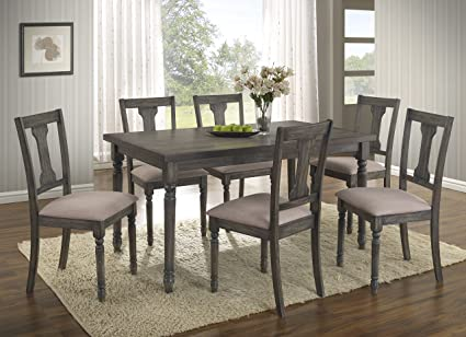 Merveilleux Ashton 7 Piece Wood Dining Set: Table And Six Chairs