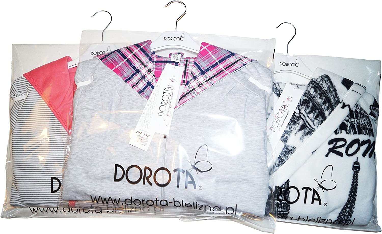 Made in EU. Tasche e Cinturino DOROTA Colorata e Morbida Vestaglia//Homewear in Cotone con Cappuccio