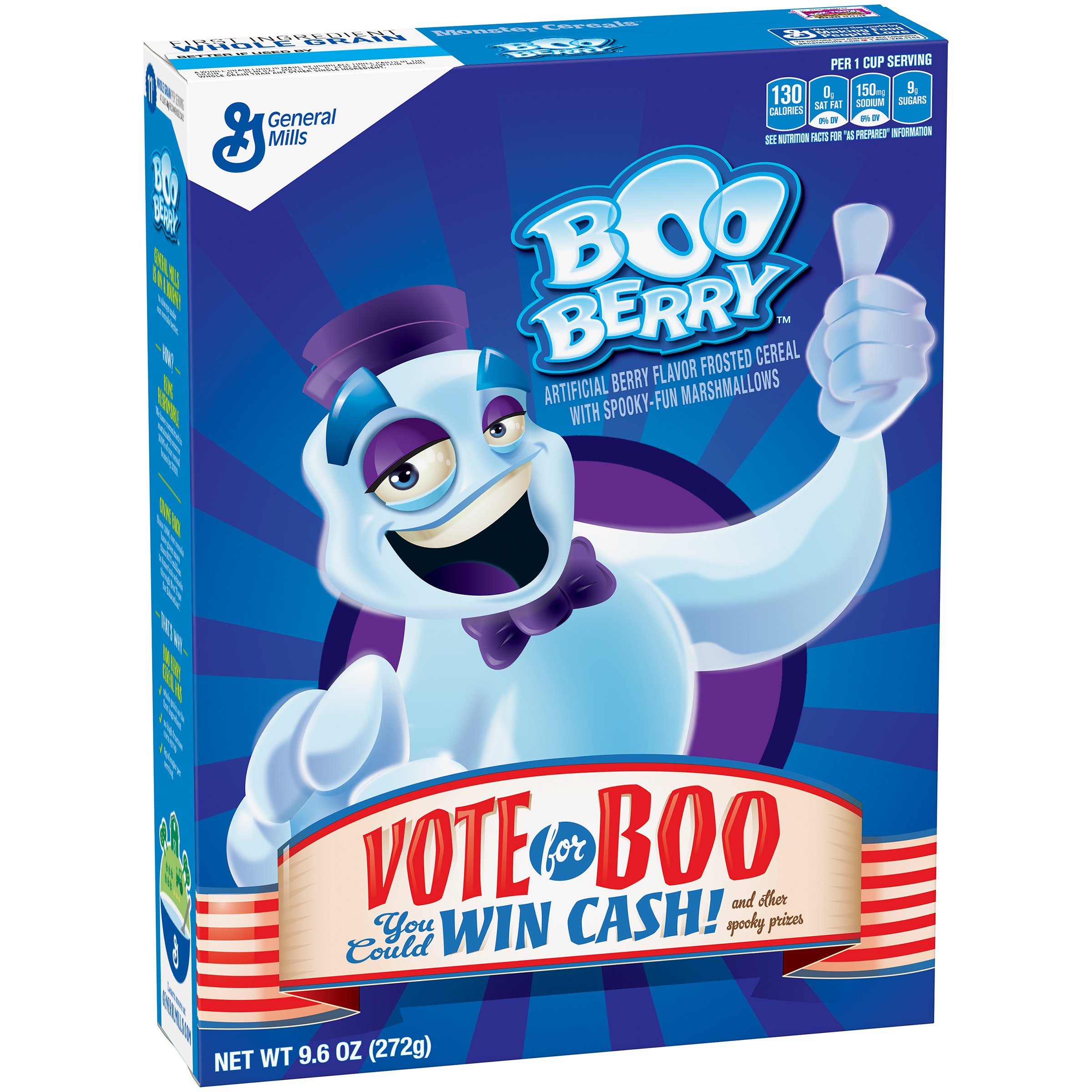 Monster Cereal, Booberry, 9.6-Ounce Boxes (Pack of 4)