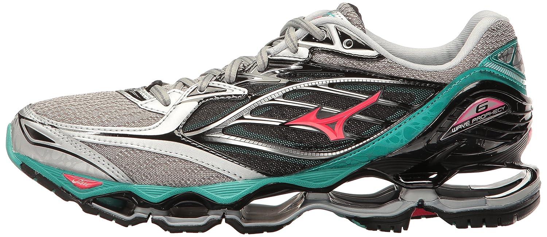 Mizuno Women's Wave Prophecy 6 Running Shoe B01H4XA1NG 9 B(M) US|Silver/Blarney