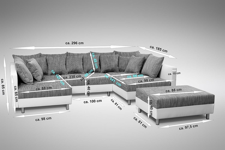 Schön Ecksofa Weiß Grau Ideen Von Küchen-preisbombe Sofa Couch Eckcouch In Weiss/hellgrau Eckcouch