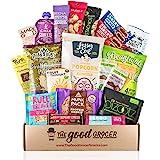 Healthy VEGAN Snacks Care Package: Non-GMO, Vegan Jerky, Snack Bars, Protein Cookies, Crispy Fruit, Nuts, Healthy Gift Basket