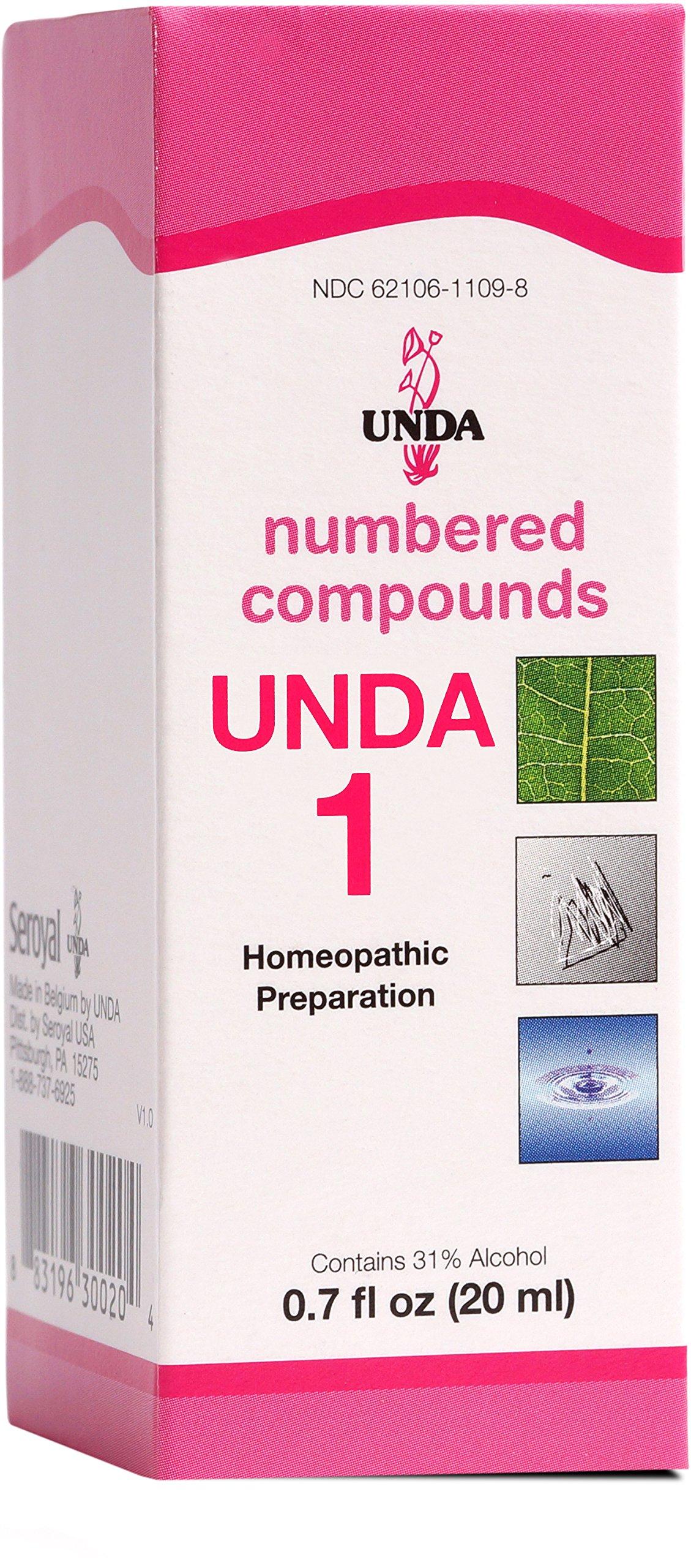 UNDA - UNDA 1 Numbered Compounds - Homeopathic Preparation - 0.7 fl oz (20 ml) by UNDA