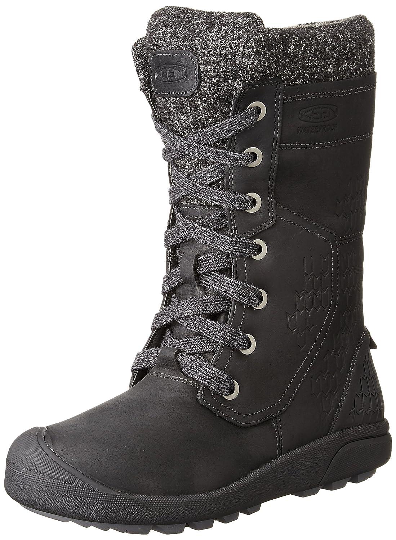 KEEN Women's Fremont Lace Tall Waterproof Shoe B019FCWMZE 5 B(M) US|Black