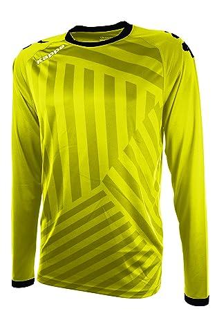 Kappa Temporio Camiseta Fútbol, Unisex, Amarillo, S/M