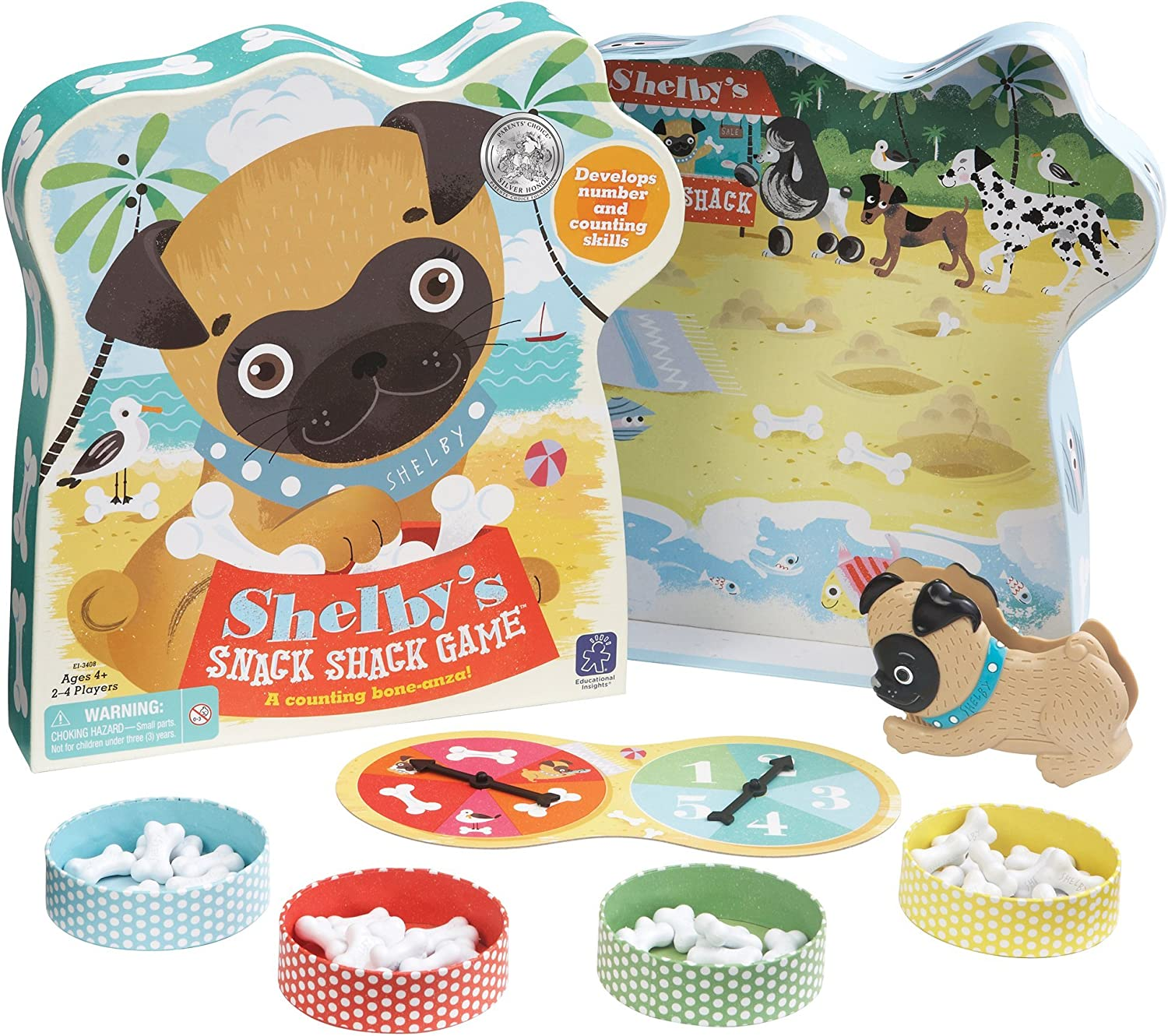 Educational Insights Shelby's Snack Shack Counting Game, Board Game for Preschoolers