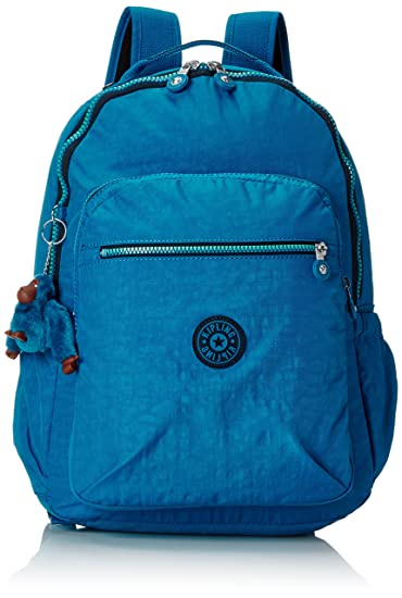 Kipling Seoul Up Large Backpack With Laptop Protection Blue Green Mix