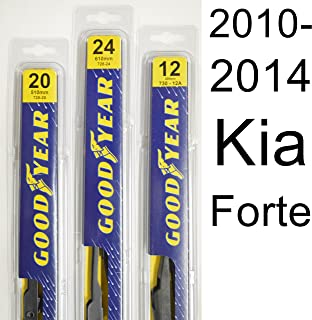"product image for Kia Forte (2010-2014) Wiper Blade Kit - Set Includes 24"" (Driver Side), 20"" (Passenger Side), 12A"" (Rear Blade) (3 Blades Total)"