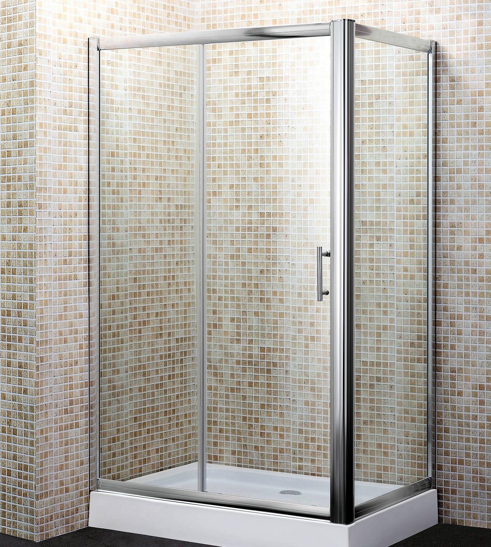 Mampara de baño de cristal transparente, 70 x 120 cm, mod. Yadira ...