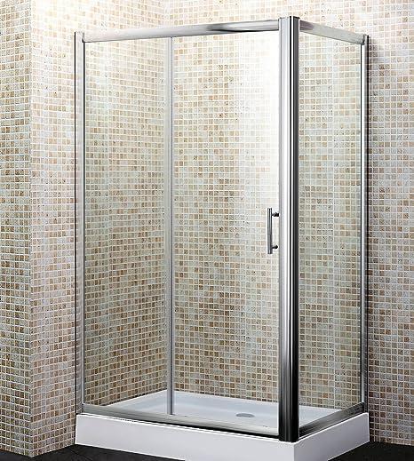 Mampara de baño de cristal transparente, 70 x 120 cm, mod. Yadira: Amazon.es: Hogar