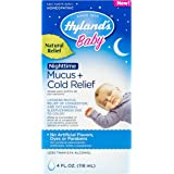 Hyland's Baby Nighttime Mucus + Cold Relief, Natural Relief of Congestion & Occasional Sleeplessness Due to Colds, 4 Ounces