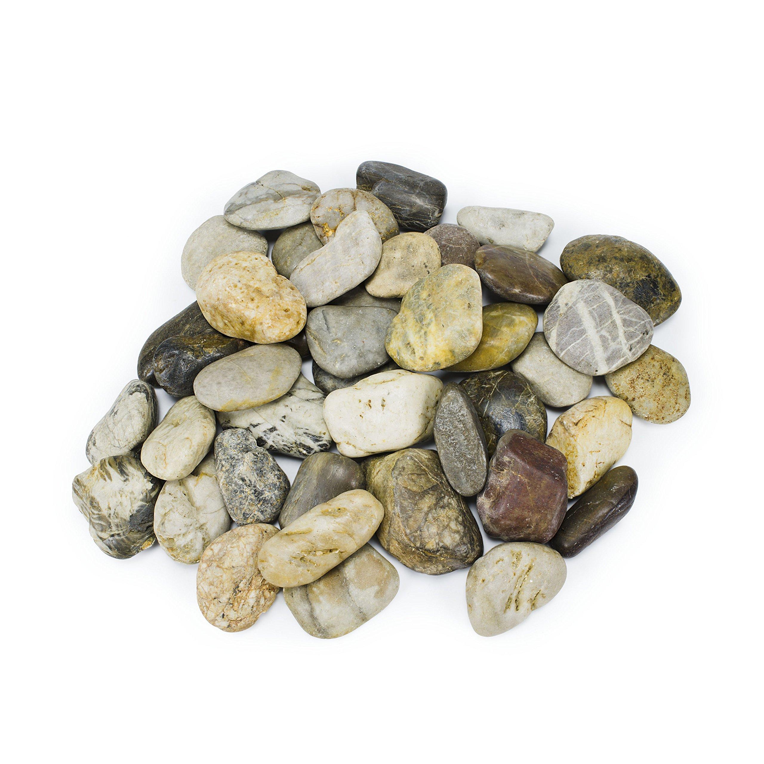 Aquascape Decorative River Stone Pebbles 22 lbs / 10 kg. - 78160 78161 (Mixed)