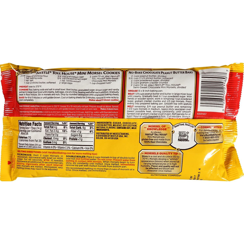 Amazon.com : Nestle Toll House Semi-Sweet Chocolate Mini Morsels ...