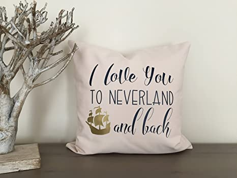Funda de cojín Peter Pan Neverland I Love You Funda de cojín ...