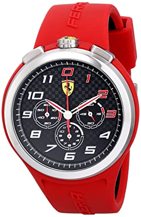 081f14cdea9 Amazon.com  Ferrari Men s 0830101 Ready Set Go Analog Display Quartz ...