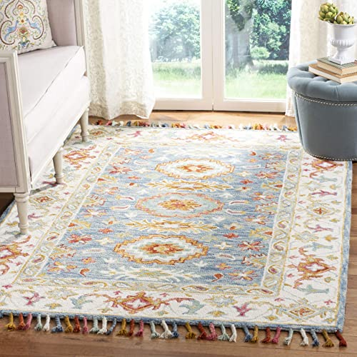 Safavieh Aspen Collection APN117M Handmade Boho Braided Tassel Wool Area Rug
