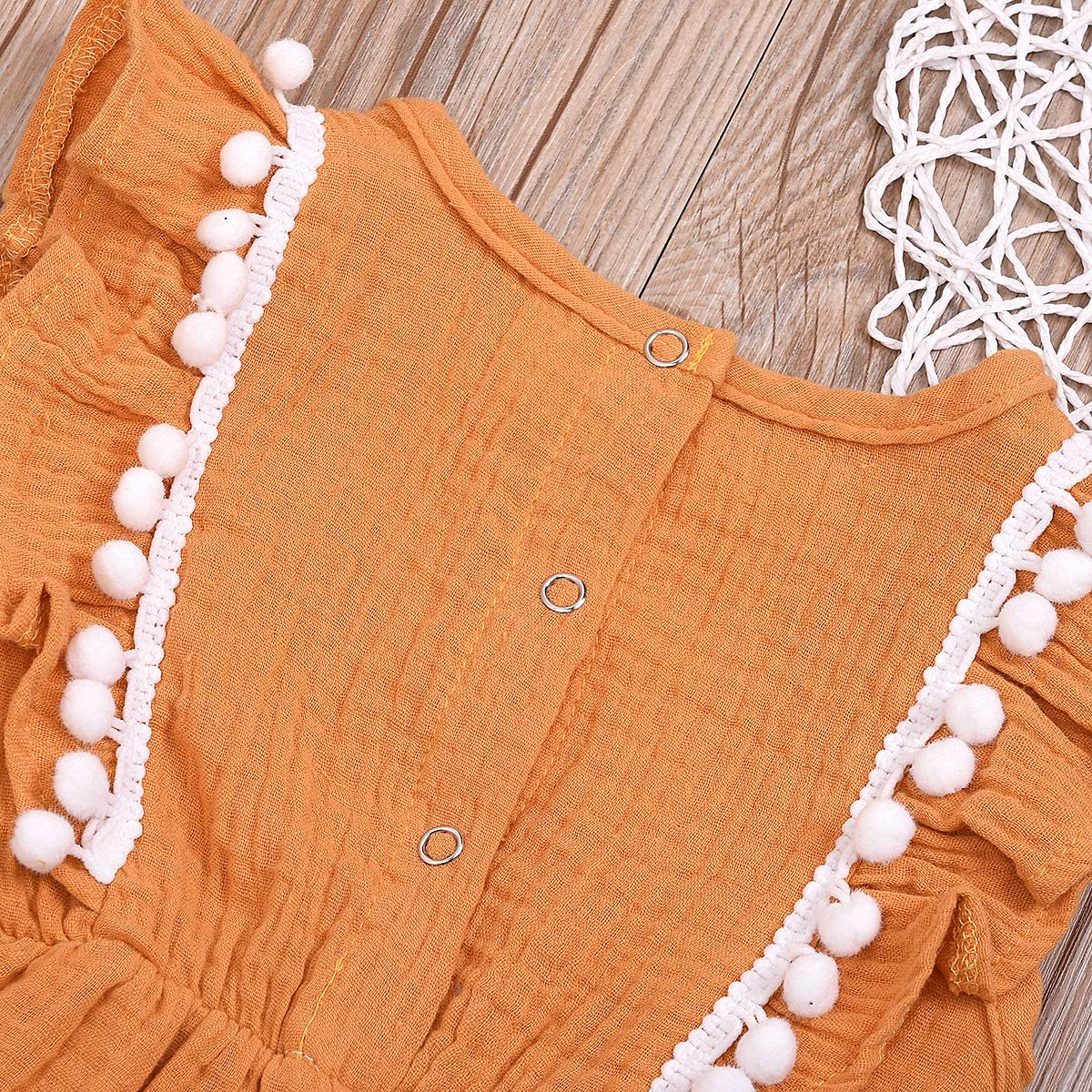 YOUNGER TREE Toddler Baby Girl Linen Ruffle Tassels Sleeveless Tutu Dress Sundress Beach Summer Outfits Clothes