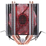 Premium upHere Quality Quiet Dual Tower Heat-Sink CPU Cooler with 4 Direct Contact Heatpipes, Red LED Fan