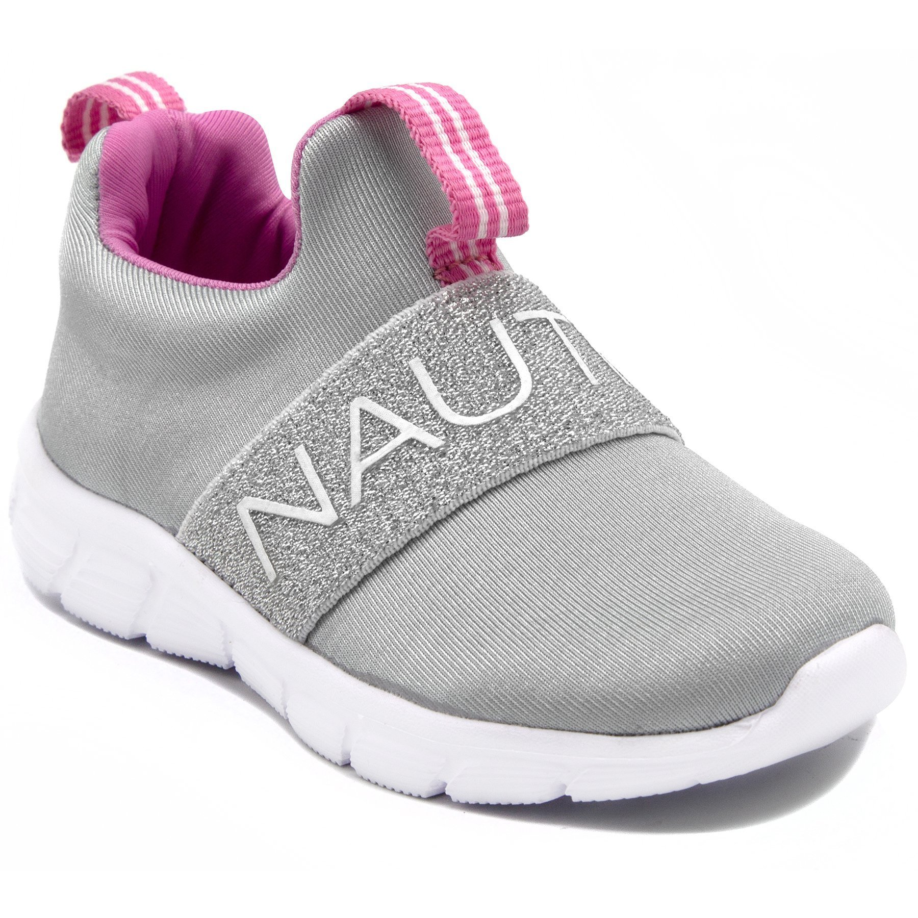 Nautica Kids Girls Fashion Sneaker Slip On Running Shoe-Grey-9